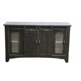 """See Details - 60"""" Stone Brown Tv/buffet W/ Sliding Doors"""