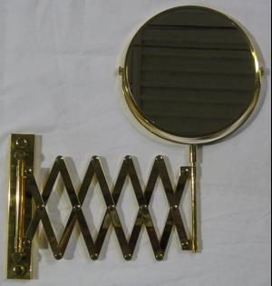 While supplies last! Please choose carefully, as all sales on these items are final. Please read Outlet Terms & Conditions and Privacy Policy . Gold Plated Two-Sided Swivel Mirror with Arm Product Image