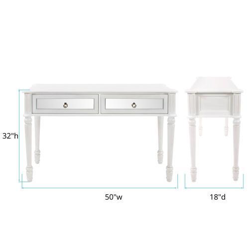 Howard Elliott - Madison Antique White Console Table