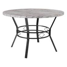 "45"" Round Dining Table in Distressed Slate Finish"