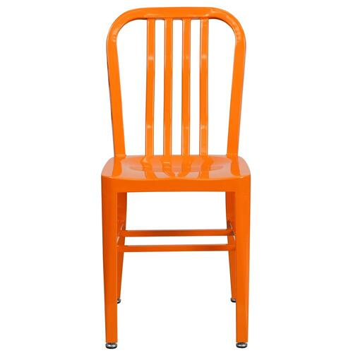 Orange Metal Indoor-Outdoor Chair