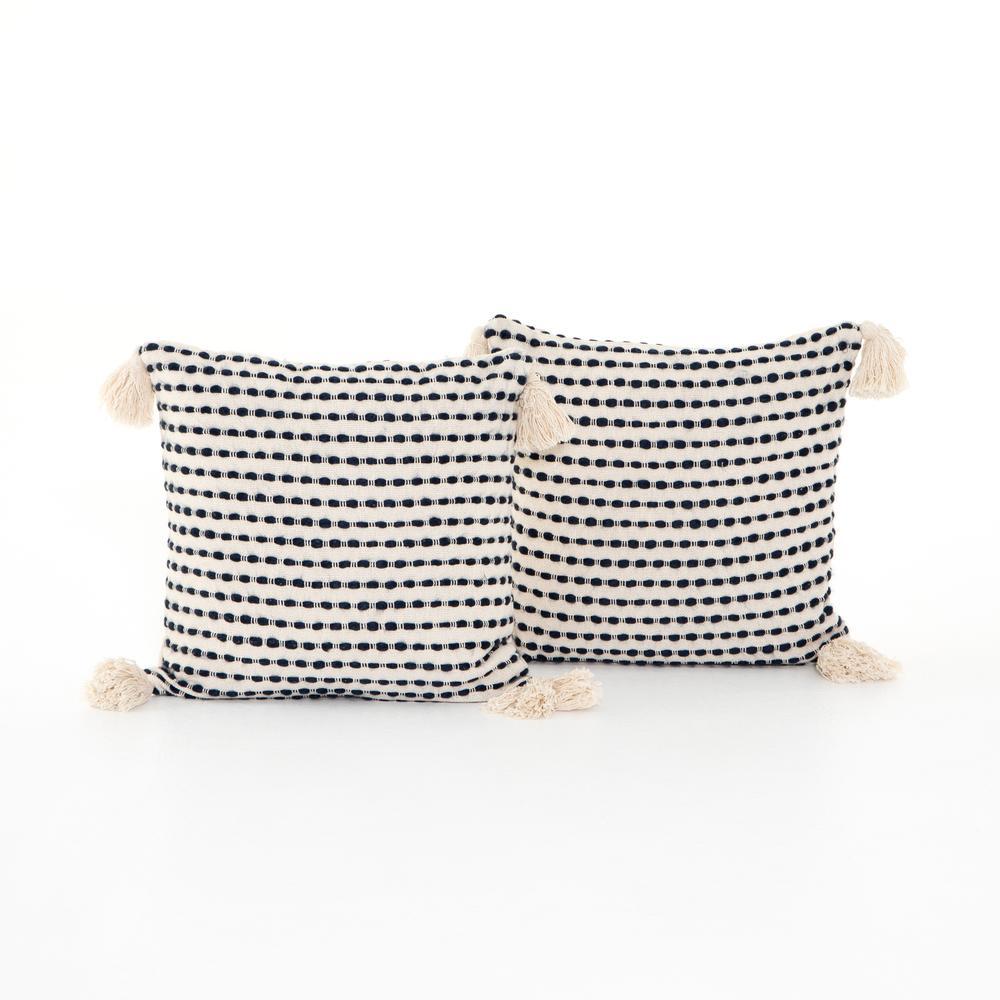 """Briella Pillow, Set of 2-20""""-black/white"""
