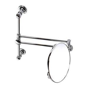 Polished Nickel Pivoting Vanity Mirror on Slide Bar