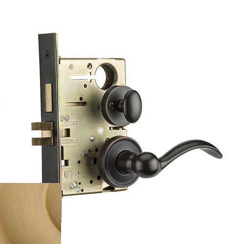 Baldwin - Vintage Brass Boulder Sectional Privacy Set