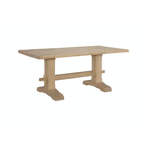 John Thomas Furniture - Live Edge Trestle Table
