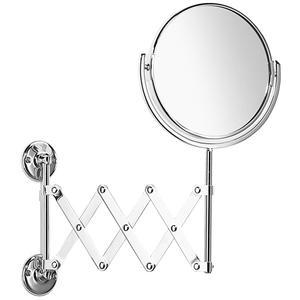 Samuel Heath - Antique Gold Plain / magnifying (x5) extendable mirror
