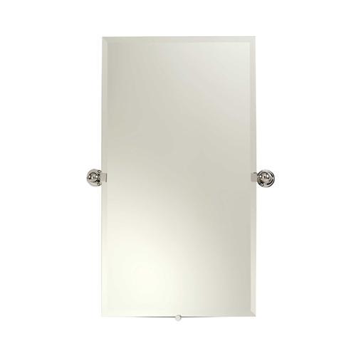 "Satin Nickel 20"" x 36"" Small Frameless Pivoting Mirror"