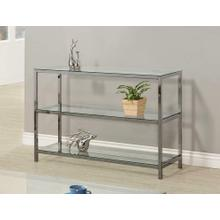 View Product - Contemporary Black Nickel Sofa Table