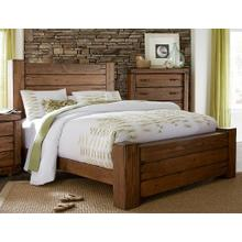 5/0 Queen Panel Bed - Driftwood Finish