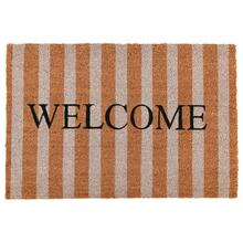 See Details - Doormat Striped Welcome Natural 24x36