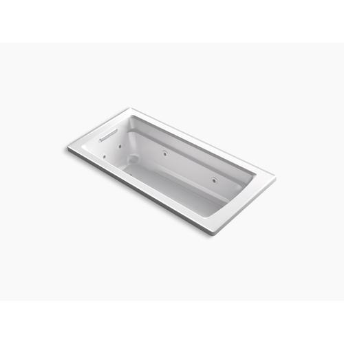 "Thunder Grey 66"" X 32"" Drop-in Whirlpool With Reversible Drain and Heater"