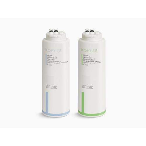 Replacement Filter Cartridge Two-pack With Hollow Fiber Membrane and Carbon Block Voc