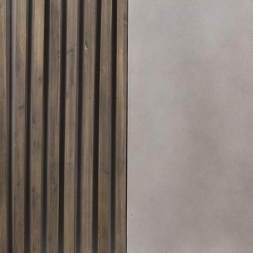 VIG Furniture - Modrest Delaware Modern Concrete & Acacia Square Coffee Table