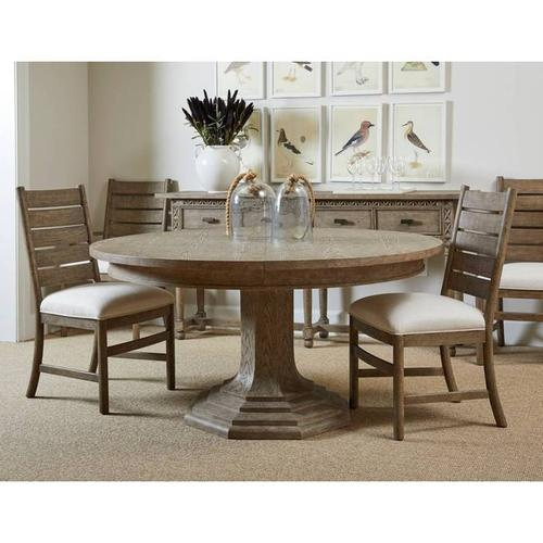 """Stanley Furniture - Portico 60"""" Round Dining Table - Shell"""
