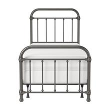 Kirkland Metal Twin Bed, Aged Pewter
