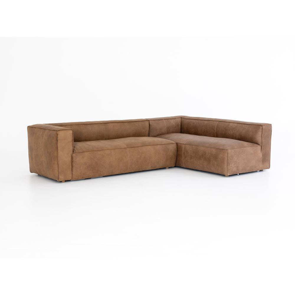 2 Piece - Left Arm Facing Configuration Natural Washed Cover Nolita Sectional