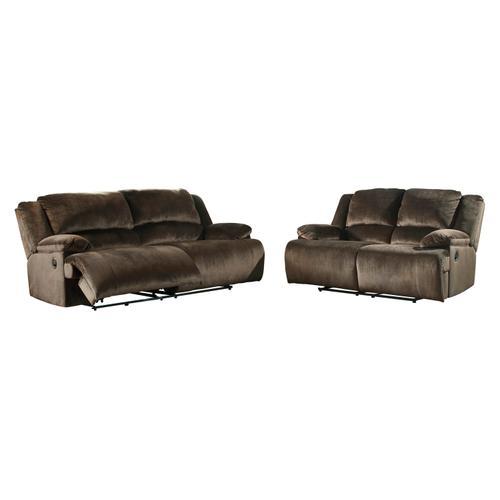 Signature Design By Ashley - Clonmel 2 Seat Reclining Sofa Chocolate