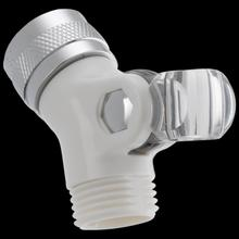 White Pin Mount Swivel Connector for Hand Shower