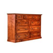 See Details - Forest Designs Mission Alder Nine Drawer Tall Dresser: 60W x 40H x 18D
