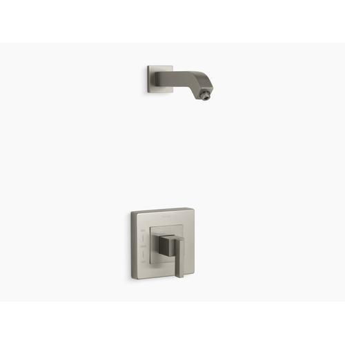 Kohler - Vibrant Brushed Nickel Rite-temp Shower Valve Trim With Lever Handle, Less Showerhead