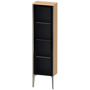 Semi-tall Cabinet With Mirror Door Floorstanding, Brushed Oak (real Wood Veneer)