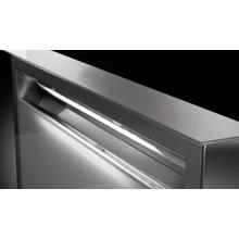"30"" downdraft gray glass hood"