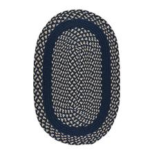 "LM-Navy Classic Poly Braid Navy - Oval - 20"" x 30"""