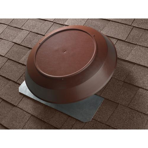 Broan 1600 CFM Powered Attic Ventilator, Roof Mounted, Brown Dome
