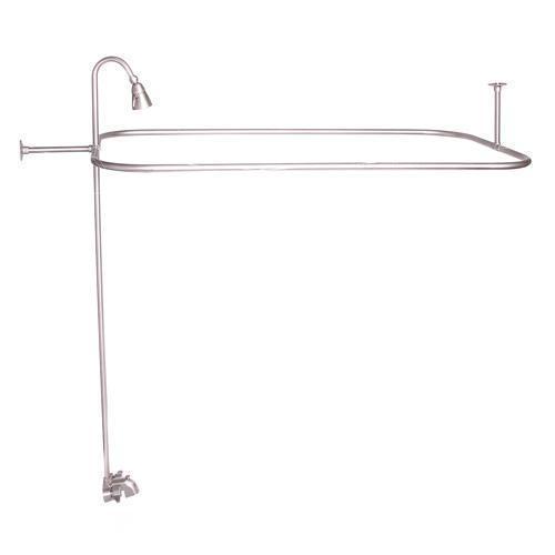 "Tub/Shower Converto Unit - Brushed Nickel / 48"" x 24"""
