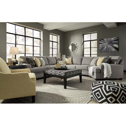 Benchcraft - Cresson - Pewter 5 Piece Sectional