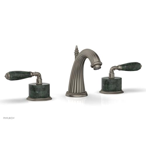 VALENCIA Widespread Faucet Green Marble K338F - Pewter