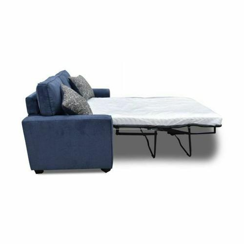 ACME Catherine Loveseat w/Sleeper (2 Pillows) - 52294 - Blue Fabric