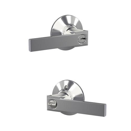 Northbrook Lever Keyed Entry Lock - Bright Chrome