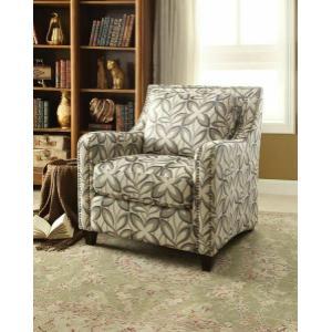 Acme Furniture Inc - ACME Ushury Chair - 53592 - Floral Fabric