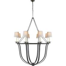 View Product - E. F. Chapman Lancaster 8 Light 42 inch Aged Iron Chandelier Ceiling Light