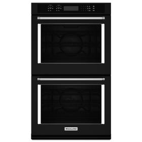 """30"""" Double Wall Oven with Even-Heat™ True Convection Black"""