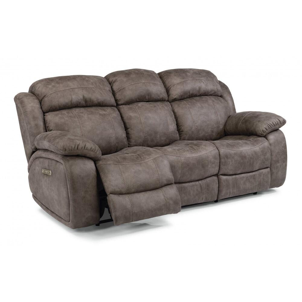 Como Power Reclining Sofa with Power Headrests