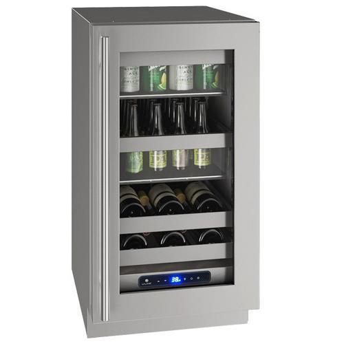 "U-Line - Hbv518 18"" Beverage Center With Stainless Frame Finish and Right-hand Hinge Door Swing (115 V/60 Hz Volts /60 Hz Hz)"