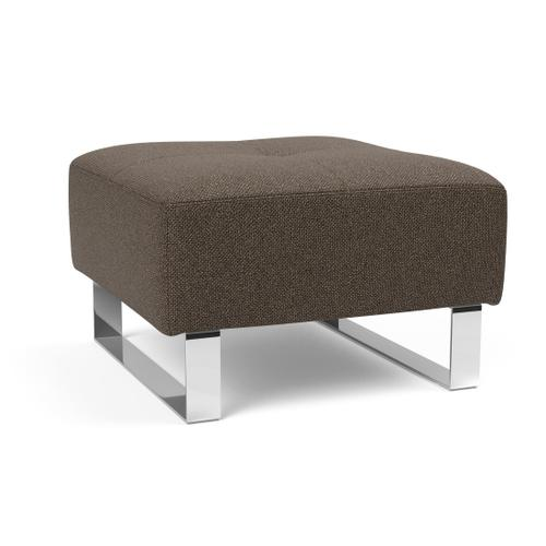 """DELUXE EXCESS PUFF, 25""""X25""""/EXCESS OTTOMAN LEGS, CHROME"""