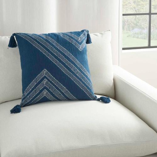 "Kathy Ireland Pillow Aa443 Navy 20"" X 20"" Throw Pillow"