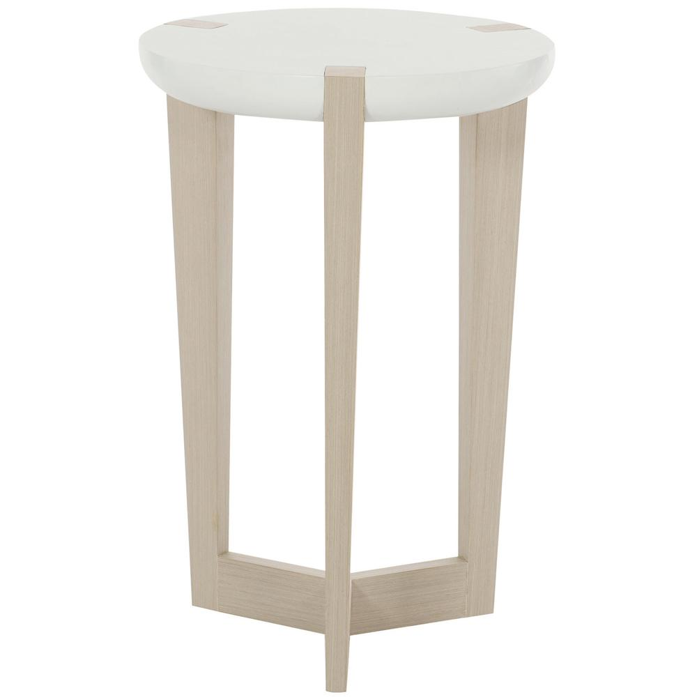 Axiom Accent Table in Linear Gray (381), White Linen Plaster (381)