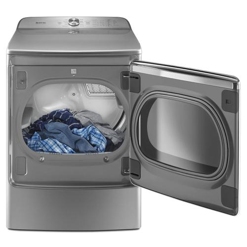 Maytag - Top Load Dryer with the PowerDry System and Extra Moisture Sensor - 9.2 cu. ft. Metallic Slate