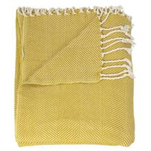 "Throw Sz008 Mustard 50"" X 70"" Throw Blanket"