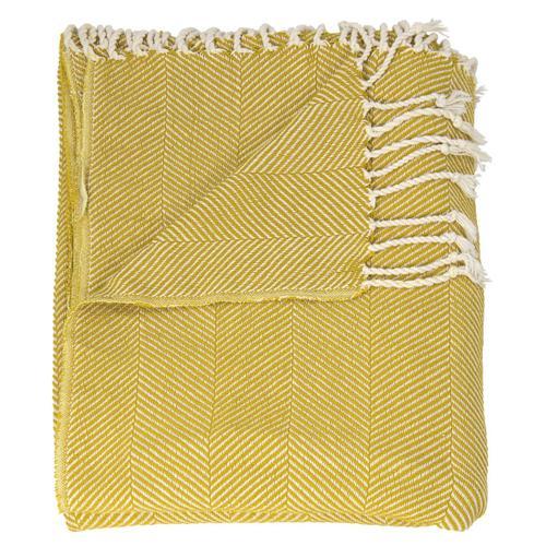 "Nourison Rugs - Throw Sz008 Mustard 50"" X 70"" Throw Blanket"