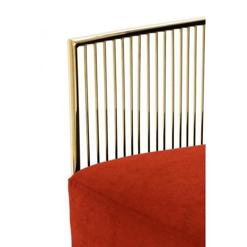 VIG Furniture - Modrest Loveland - Glam Orange Velvet Accent Chair