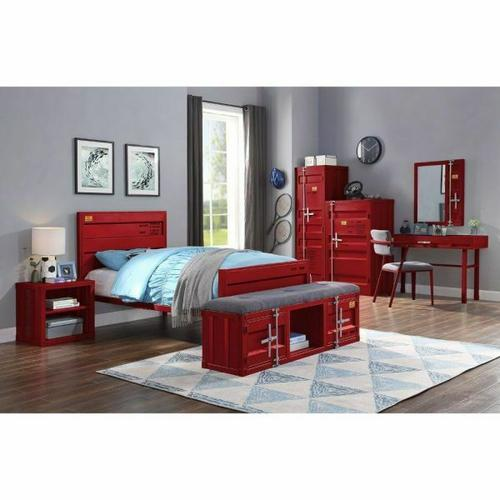 ACME Cargo Twin Bed - 35950T - Red