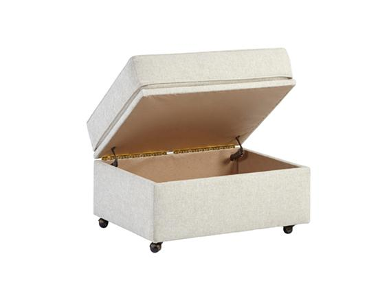 Ottoman - Shown in 105-05 Ivory Chenille Finish