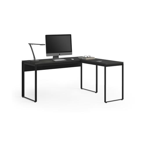 BDI Furniture - Linea 6224 Work Desk Return in Charcoal Stained Ash