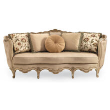View Product - Florence Carved Wood Sofa