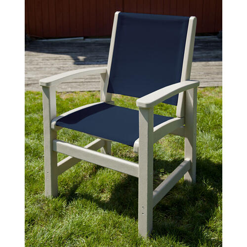 Black & White Coastal Dining Chair